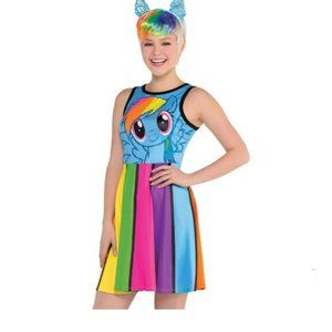 Rainbow Dash Fit Flare Dress Halloween Costume Med